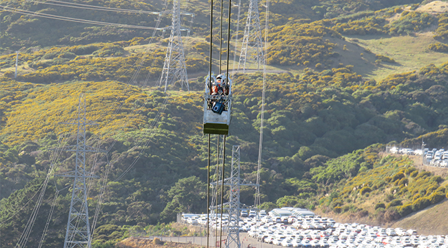 HVDC hanging over Churton Park.